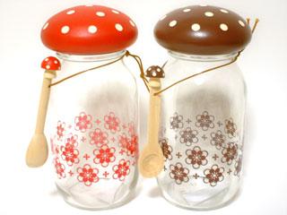 Mushroom Jars & Spoons